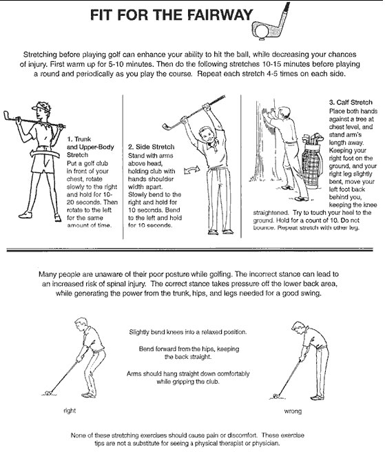 Golf Stretches Posture Exercises